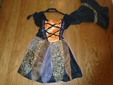 BNWT girl Witch halloween fancy dress up. Age 4-6 yrs. The Original Factory Shop