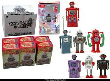 Osaka Tin Age  miniature robots boxed set of 6 PLUS mystery red Machine Man