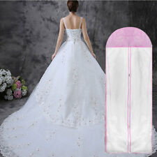 Breathable Wedding Prom Dress Gown Garment Clothes Cover Dustproof Bag Zip