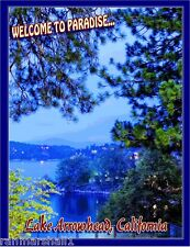 Lake Arrowhead California United States America Travel Advertisement Art Poster