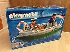Playmobil 4471 Customs Harbour Boat Set MIB Unopened Rare