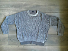 NEW JOSEPH SILVER JUMPER UK:M/8-12 RRP£188 RARE OVERSIZE TOP PEARL STITCH COTTON