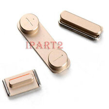Side Mute Volume Key button Power Key 3 Button Parts for Apple iPhone 5S (Gold)