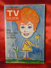 June 12 TV GUIDE 1971 LUCY Lucille Ball Roller Derby US Open Coke Coca Cola ad