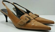Couture Donald J Pliner Fawn Leather Slingback Pumps Womens Size 8.5 M