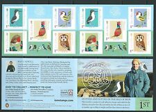 ISLE OF MAN 2016  BIRDS SELF ADHESIVE BOOKLET UNMOUNTED MINT, MNH