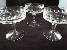 PEILL & Putzler German Crystal Glass SET of 3 Stemmed Glasses, Sherbert