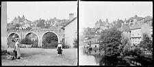 UZERCHE c. 1900 - 24 Stéréos Verre Corrèze - 25