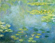 Art Oil painting Monet - Impression landscape Water Lilies Lotus flowers canvas