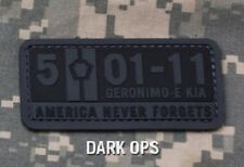 5-01-11 AMERICA NEVER FORGET PVC USA DARK OPS VELCRO® BRAND FASTENER PATCH
