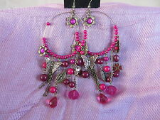 Dorothy Perkins Chandelier earrings Pink RRP £11 BNWT