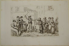 """Bartolomeo Pinelli """"Il ballo dell'orso"""" costumi di Roma edizione del 1809"""