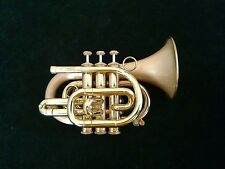 Carol Brass CPT -300LR Deluxe Pocket Trumpet with Original Hard Case