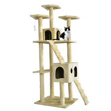 "73 ""cat tree scraper player apartment furniture toy bed mail pet house new"