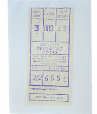 London bus ticket stub coton torchon