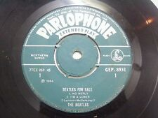 THE BEATLES FOR SALE rock roll/no reply Green Parlophone rare SINGLE INDIA VG+