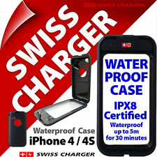 NEW SWISS CHARGER COVER CUSTODIA IMPERMEABILE PER IPHONE 4/4s Shockproof PROTETTIVA