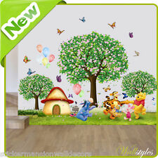 Winnie The Pooh Wall Stickers Zoo Animal Jungle Nursery Baby Bedroom Art Decals