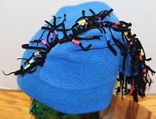 SCREAMER WINTER SKI SNOWBOARD HAT BLUE DREADLOCKS BEADED OSFM USA MADE VGC