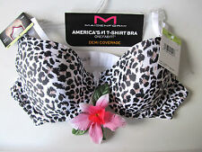 NWT $38 MAIDENFORM T SHIRT U/W ANIMAL Print 07959 Demi Bra 36B 36 B