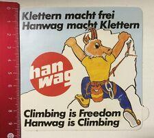 Aufkleber/Sticker: Hanwag - Klettern Macht Frei-Hanwag Macht Klettern(140316195)