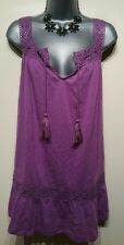 Size 18 Top BNWT Purple F&F Tunic Vest Holiday Beach Travelling Women's