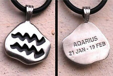 Aquarius Pendant Horoscope Sign Aquarius Charm Astrological Aquarius Necklace