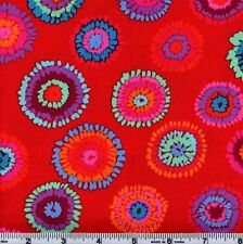 Rowan Kaffe Fassett PWGP109 Red Multi Color Abstract Circles By The Yard
