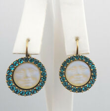 NEW KIRKS FOLLY ~~NEVER RELEASED~~  SEAVIEW MOON LEVERBACK EARRINGS BT/TEAL