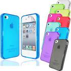 iPhone 4 4S 5 5S 5C 6 6+ TPU Hülle Case Silikon Cover Gel Bumper Durchsichtig
