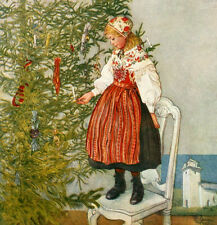 Christmas Tree Confetti   by  Carl Larsson   Giclee Canvas Print Repro