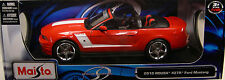 MAISTO 1:18 SCALE DIECAST METAL RED 2010 ROUSH 427R FORD MUSTANG CONVERTIBLE