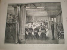 Prince of Wales farewell banquet HMS Serapis 1876 print ref V