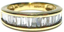 """FTH"" 14K YELLOW GOLD 1,00CT BAGUETTE DIAMOND WEDDING ENGAGEMENT RING BAND"
