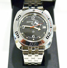 New VOSTOK Russian Amphibian 200m Diver Automatic Mens Watch #710634- US SELLER