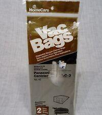 NIP Panasonic Canister Vacuum Cleaner Bags C & C-3 Qty 2  No. 40