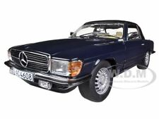 1977 MERCEDES 350 SL CLOSED CONVERTIBLE DARK BLUE 1/18 BY SUNSTAR 4608