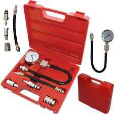 New 8pc Petrol Engine Cylinder Compression Tester Kit Automotive Tool Gauge red