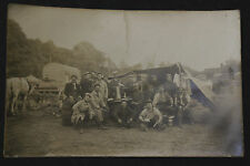 CPA WW1 - CARTE-PHOTO CAMPEMENT Compagnie HR du 228ème d'INFANTERIE 1915 - Animé