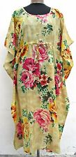 New 100% Cotton Kaftan Dress Maxi Long Tunic Beach Size 14 16 18 20 22 24 26 28