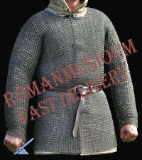 BUTTED CHAINMAIL SHIRT X LARGE F SLEEVE CHAIN MAIL ARMOR CHAINMAILE HAUBERK