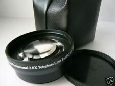 BK 43mm 2.0X Tele-Photo Lens For Canon LEGRIA HF M52 M50 M500 M41 M40 M400 M46