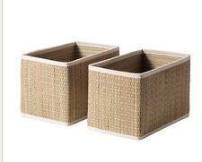 IKEA Salnan 2 confezione Cesto di stoccaggio 25x16x16 cm Nuovo con Etichetta