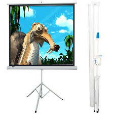 "Maxstar 50""x50"" Portable Tripod Folding Projection White Screen Diagonal 70"""
