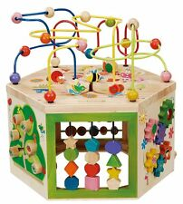 7 in 1 Activity Center Wooden Cube Early Development Game Kids Toddler Play Toys