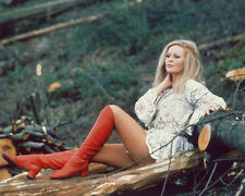 VERONICA CARLSON SEXY COLOR 8X10 PHOTO LEGGY RED BOOTS