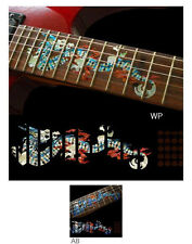 Dragon Fret Markers with Dots Inlay Stickers Decals Guitar White Silver