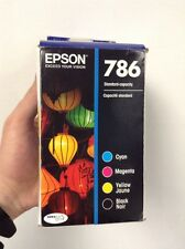 Epson 786 Black and Color C/M/Y Ink T786120-BCS Combo 4/Pack Expires 2017/18