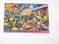1993 WIZARD MAGAZINE X-MEN 30TH ANNIVERSARY 1963-1993 PROMO CARD! WOLVERINE!