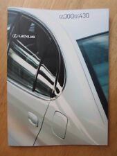 LEXUS GS300 & GS430 orig 2001 UK Mkt Prestige Sales Brochure